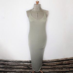 🎀3/$30 Forever 21 Sage Green Ribbed Maxi Dress